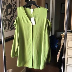 Chicos NWT Kiwi Cold Shoulder Blouse
